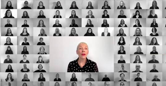 Annie Lennox and London City Voices sing 'Dido's Lament' for Greenpeace
