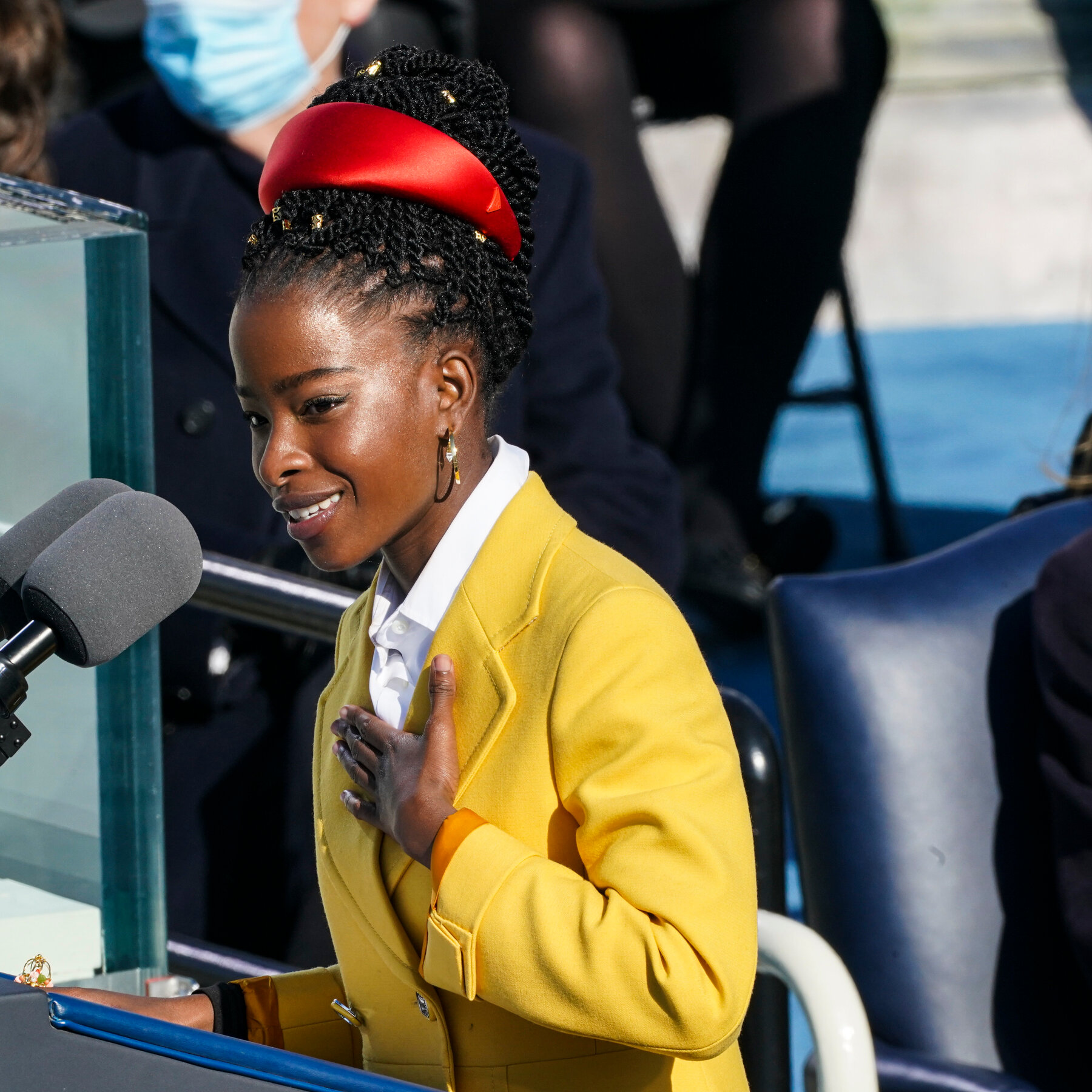 Young poet Amanda Gorman speaks out at the inauguration