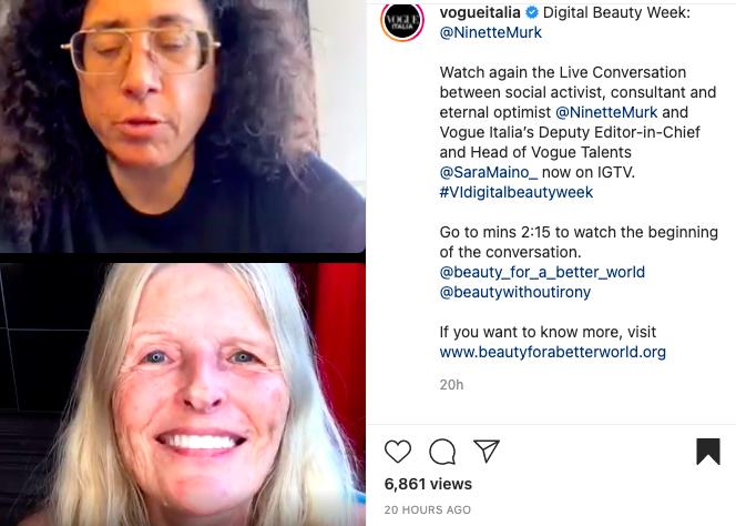 IG Talk on Vogue Italia with Sara Sozzani Maino