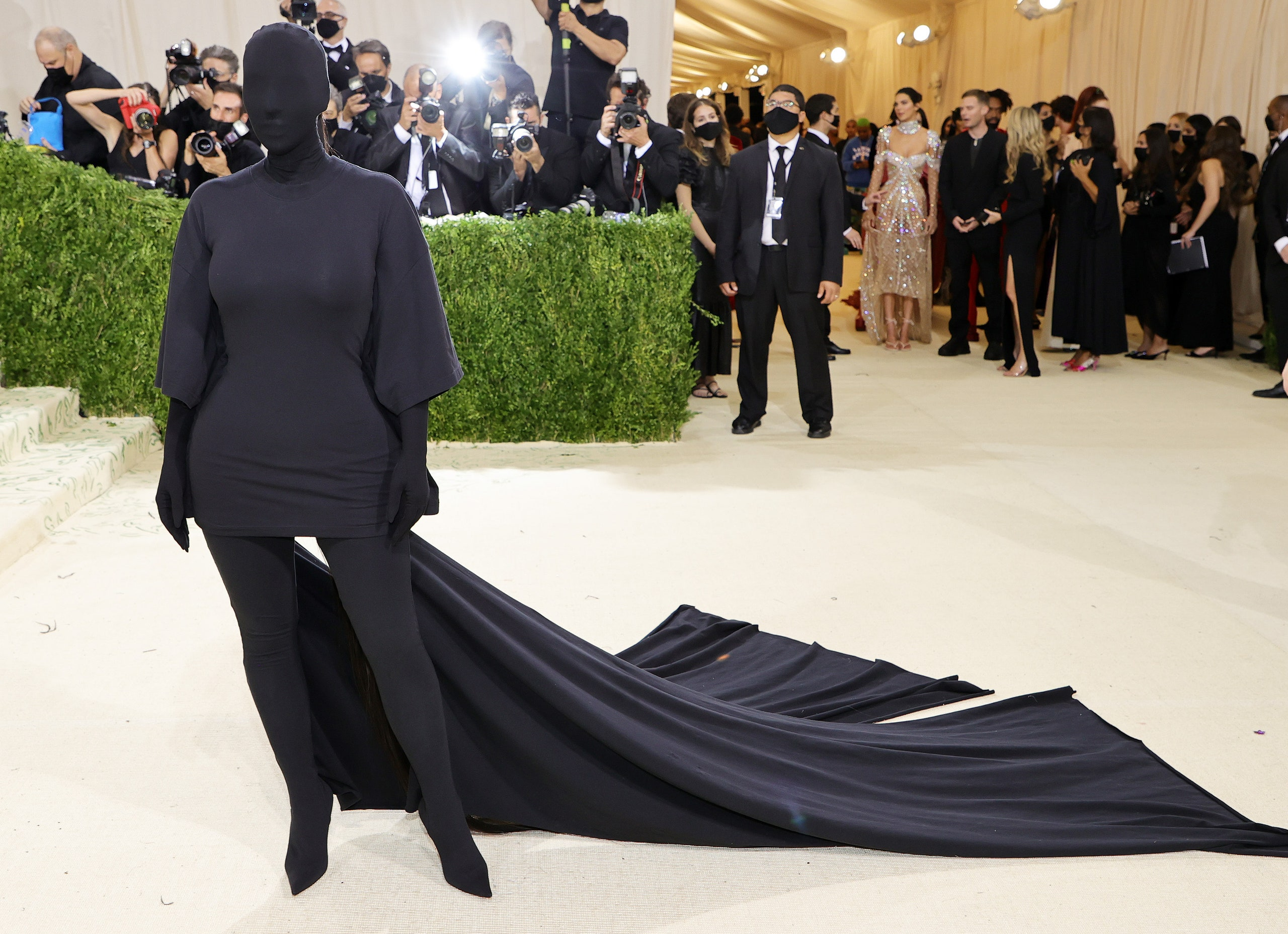 Kim Kardashian's Cover-Up Ditches Fashion to Make An Identity Statement